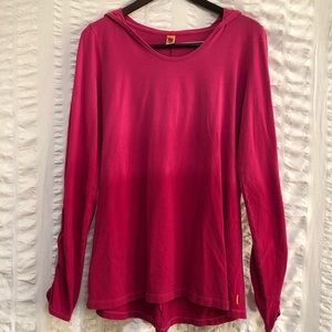 Lucy Magenta Ombré Hooded Tunic